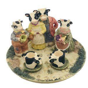 Cherished Moments Minature Cow TEA SET 1994